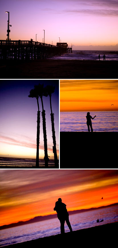 photos by Kim Bamberg and Blair deLaubenfels, Newport Beach, California sunset