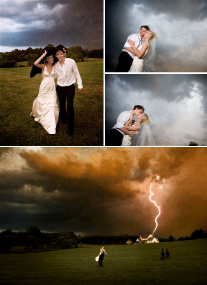 J. Garner Photography, dramatic real wedding photography in the rain