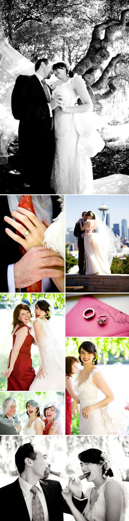 La Vie Photography, romantic vintage real Seattle wedding