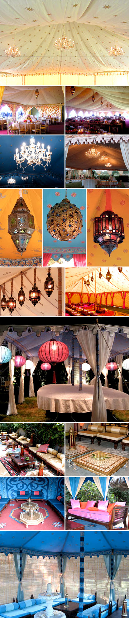 Raj Tents wedding lighting and decor rental