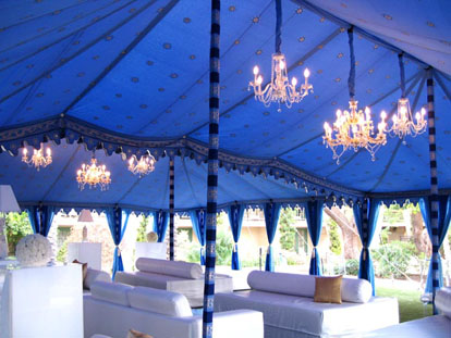 Raj Tents, custom wedding tents