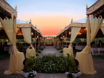 Raj Tents, exotic and high end custom wedding tents