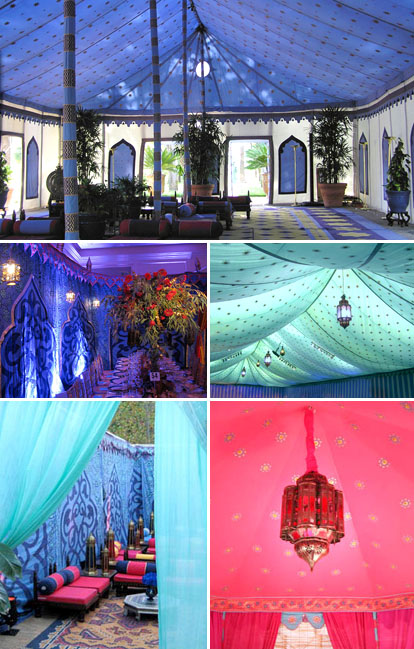 Raj Tents, rich blue, purple, fuchsia and silver wedding color palette