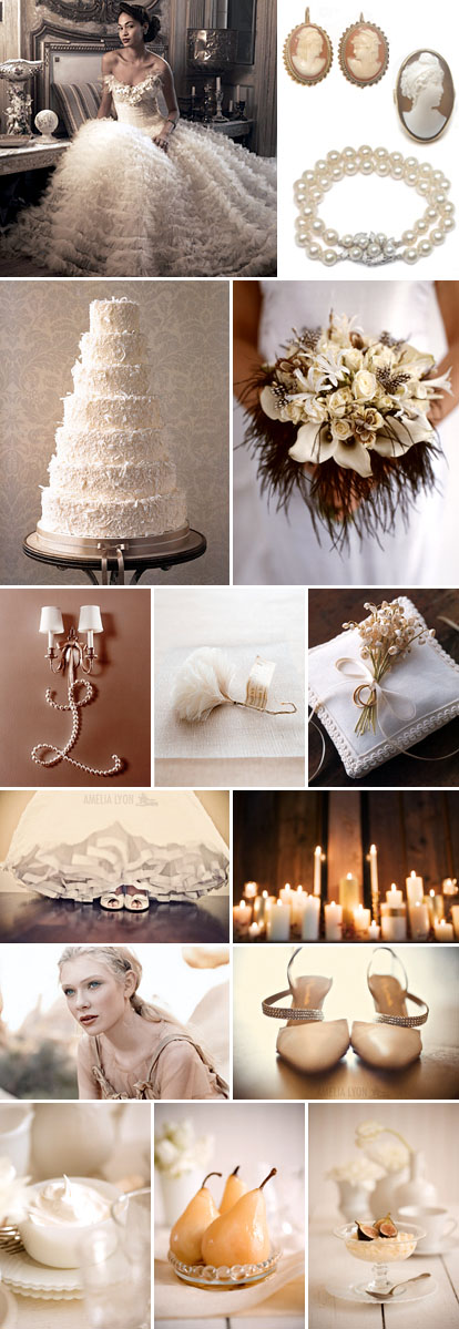 Cream and white winter wedding color palette junebug for Winter wedding color palettes