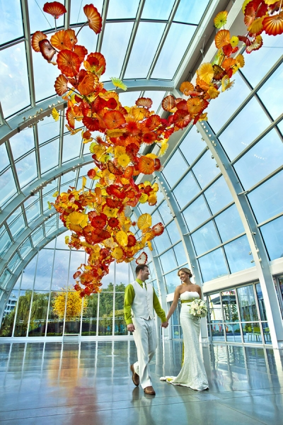 chihuly garden and glass wedding venue seattle washington junebug weddings - Chihuly Garden And Glass Seattle