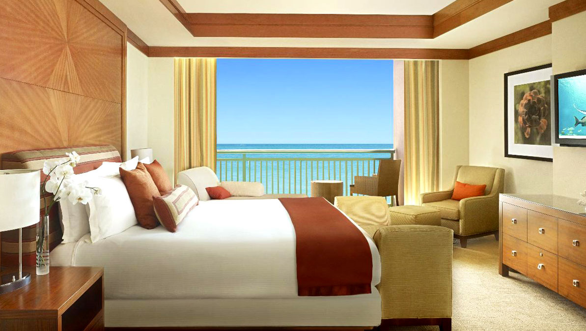 the reef atlantis 2 bedroom terrace suite bedroom and