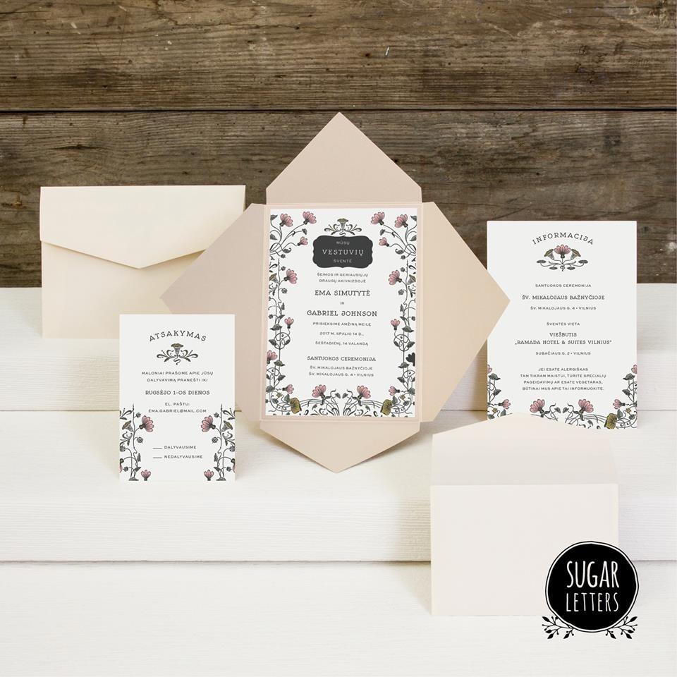Sugar letters wedding invitations lithuania junebug weddings stopboris Images