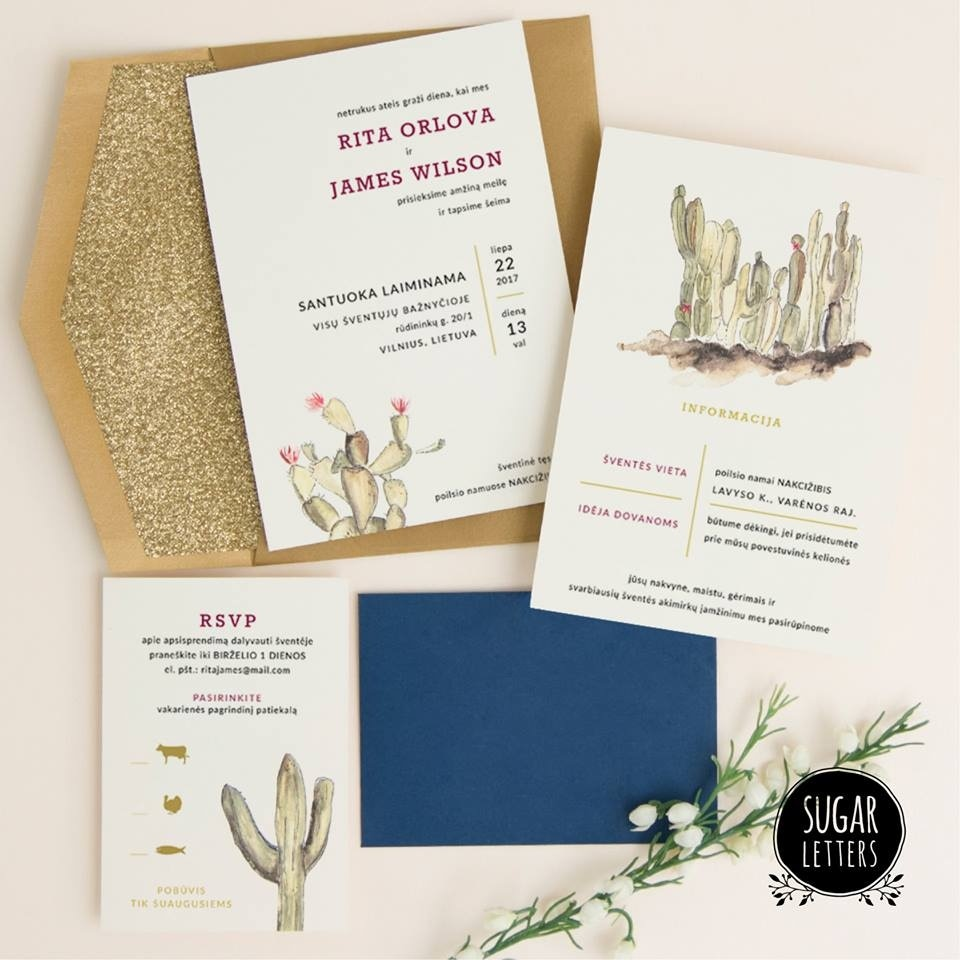 Sugar Letters wedding invitations Lithuania