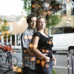 Engagement shoot of bride and groom - wedding photo by top Portland, Oregon wedding photographer Aaron Courter