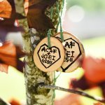 love forever tags hanging from tree - wedding photo by top Portland, Oregon wedding photographer Aaron Courter