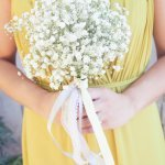 Wedding Photo by Christine Bentley Photography of Bridesmaid with bouquet