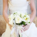 Wedding Photo by Christine Bentley Photography of bride with bouquet