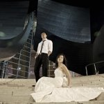 fashionable night portrait of couple - wedding photo by top Orange County, California wedding photographers D. Park Photography