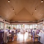 lavender and purple table settings in reception space - Honolulu destination wedding photo by top Hawaiian wedding photographer Derek Wong