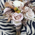 Vintage-inspired flower wedding bouquet - Safari Styled Shoot Wedding Inspiration Photo by Kay English Photography