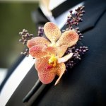 boutonnier of grrom - wedding photo by top South Carolina wedding photographer Leigh Webber