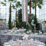 Wedding Photo by Miller and Miller Photography of silver and grey reception decor