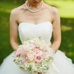 Romantic light pink and white bridal bouquet - Photo by Sara and Rocky Photography