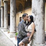 engaged couple - honeymoon in Rome - wedding photo by top Rome based destination wedding photographer Rochelle Cheever, Rome Weddings Photography