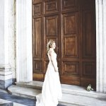 mermaid wedding dress - wedding photo by top Rome based destination wedding photographer Rochelle Cheever, Rome Weddings Photography