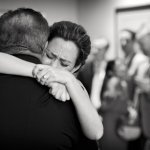 Emotional photo of the bride with her father  by top Atlanta-based wedding photographer Scott Hopkins Photography