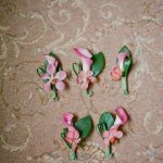 various pink bouquets for the groom and groomsmen - sweet southern military style wedding photo by Charleston wedding photographer Virgil Bunao