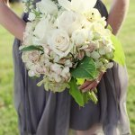 Beautiful light pink and ivory flower bouquet at wedding - Wedding Photo by Whitebox Weddings