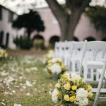 gray and yellow destination wedding, photo by Brooke Images