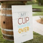 sign with scripture for wedding ceremony, photo by Taylor Lord Photography