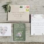 floral garden wedding invitation suite, photo by Erich McVey Photography