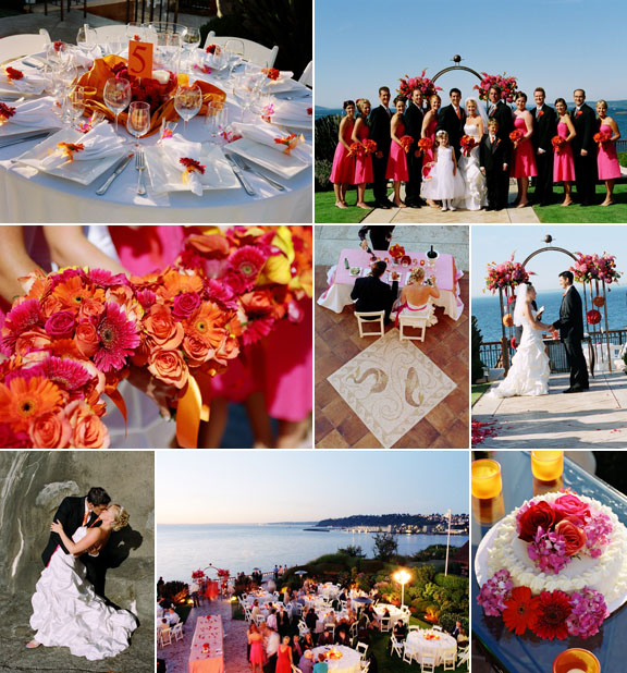 Junebug Real Weddings: Real Weddings, Real Wedding, Pink And Orange Wedding, One