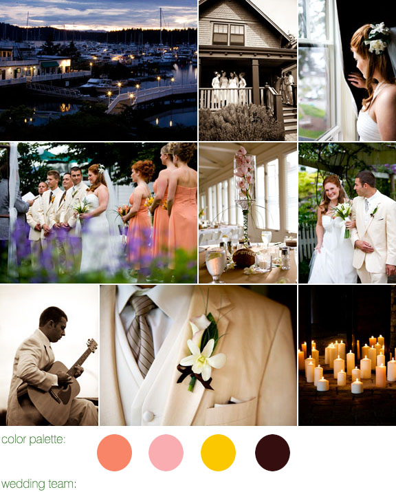 Real Weddings, Real Wedding, The Roche Harbor Resort, Fall