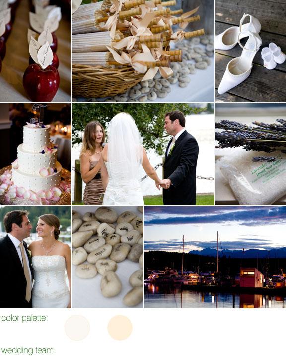 Real Weddings, Real Wedding, The Inn At Port Ludlow, Cream