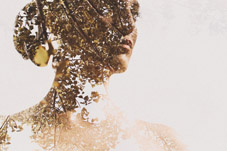 Artistic wedding portrait from top Idaho wedding photographer Sarah K Byrne Photography