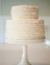 Elegant white wedding cake from Cake Envy - Seattle, WA