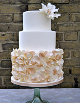 Simply elegant wedding cake by top Seattle bakery - The SweetSide