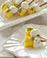Fresh pineapple and mozzarella appetizers - Lisa Dupar catering - Seattle, WA