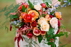 Colorful wedding bouquet by top Seattle, WA wedding florist - McKenzie Powell