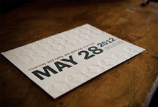 Custom letterpress Save the Date from Swash Letterpress - Seattle, WA