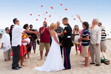 Military wedding on the beach in Seattle by a Perfect Little Wedding - Seattle officiants and photographers