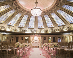 elegant pink and white wedding at the Arctic Club in Seattle with photos by Alante Photography