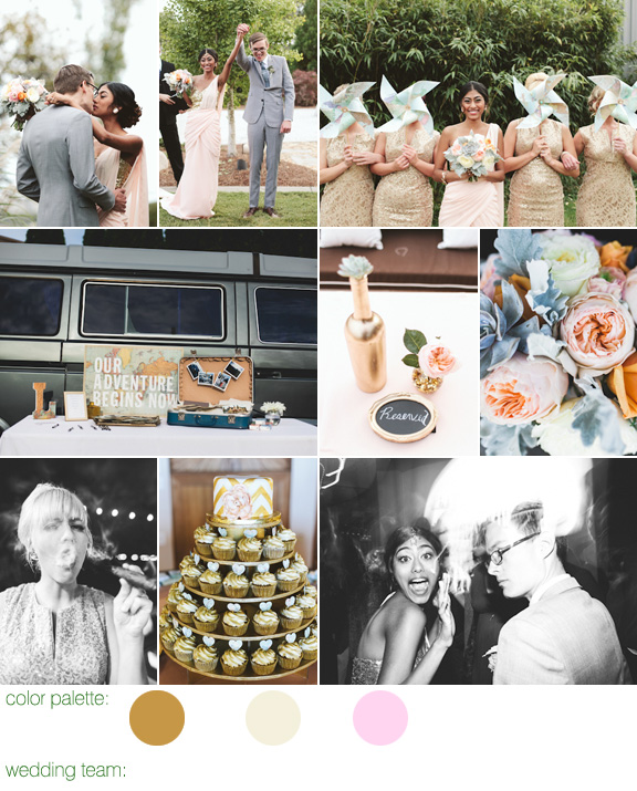gold and vintage wedding at OZ Nashville, Tennessee, with photos by Ulmer Studios