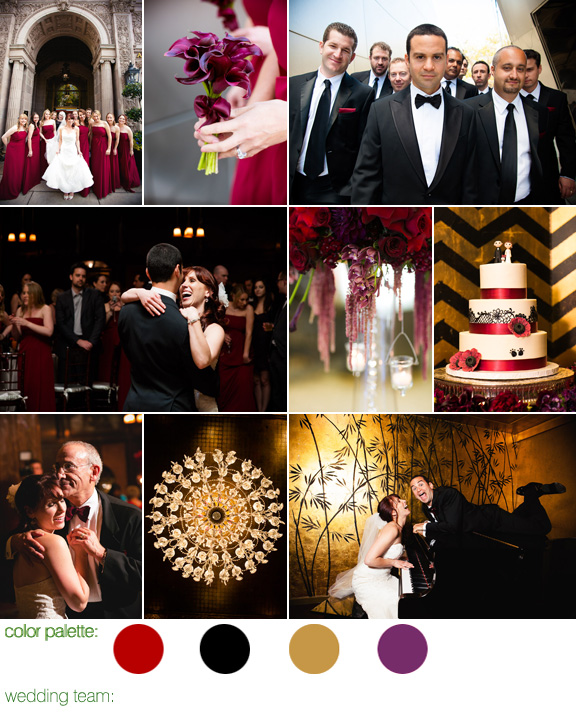 Downtown LA wedding at Cicada Restaurant, photos by LA wedding photographers Callaway Gable