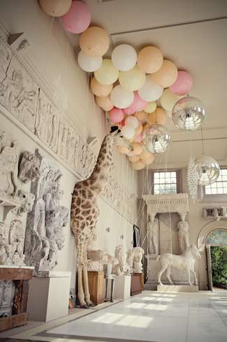 fun and magical wedding at Aynhoe Park, England, with photos by Marianne Taylor Photography