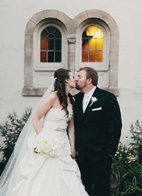 wedding photo of couple by James Moes Photography