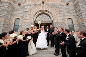grand wedding exit photo by Maloman Photographers