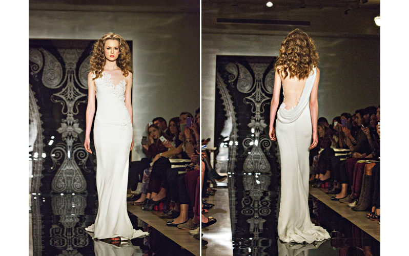 Wedding Dress Collection of Reem Acra of Spring 2014 with photos by Joy Marie Studios