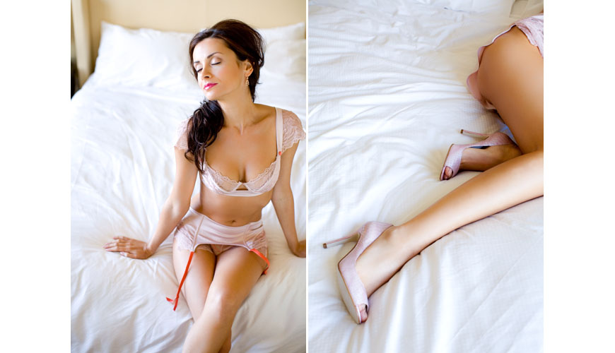 Bridal lingerie from Elle MacPherson Intimates for the honeymoon and happily ever after, images by Junebug Weddings
