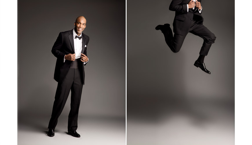 Men's wedding tuxedos and suits from Nordstrom, classic tuxedo with bow tie, photography by J. Garner Studios
