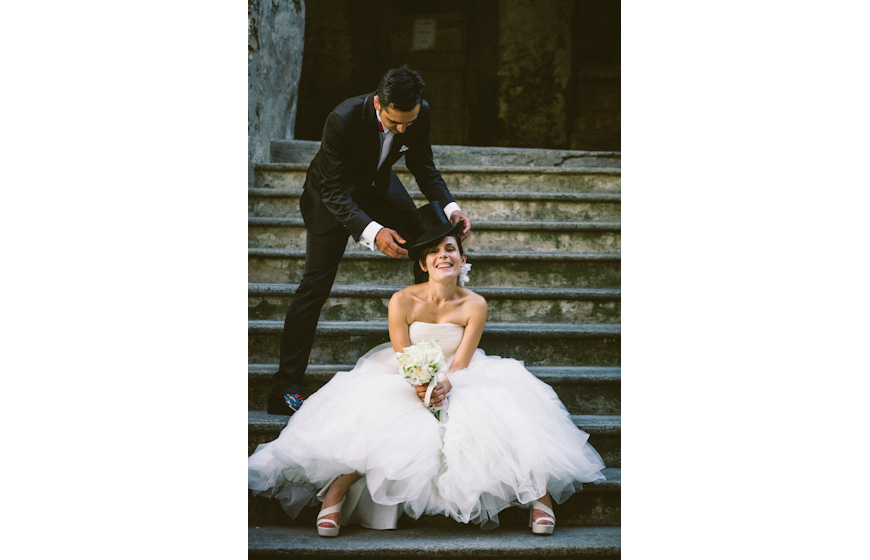 Stylish wedding photo by Julian Kanz, top Italy and destination wedding photographer